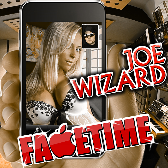 Joe Wizard cover art for FaceTime is Joe looking at his phone with a sexy girl