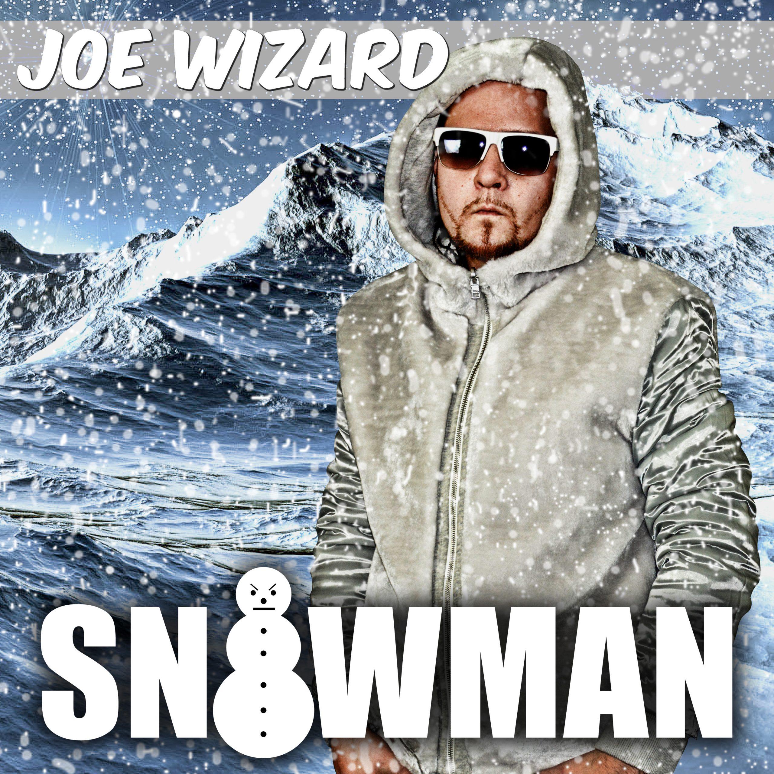 Joe Wizard cover art for Snowman is Joe in the snow
